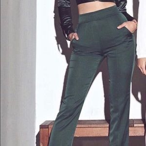 JLUXLABEL Green modern high waisted trouser